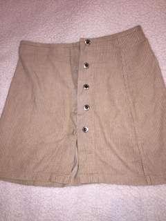 Medium/short baje button up skirt