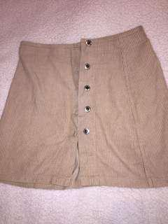 Medium/short baje button up skirt