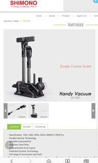 SHIMONO Double Cyclone Handheld Vacuum