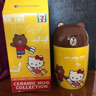 Brand new Sanrio Line Bear & Hello Kitty / Sanrio Little Twin Stars Lala ceramic mug
