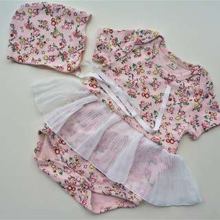 #July50 Baby Girl Romper with Hat (3-6months)