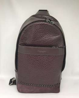 Coach Baseball Stitches Oxblood Multi