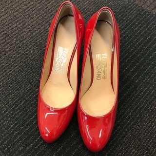 Ferragamo Red Heels