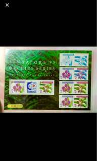 Singapore 1995 World Stamp Exh orchid limited edition 5000pc IMPERF SHEET MNH