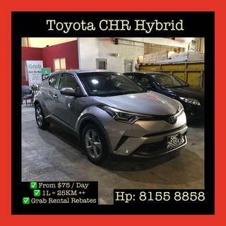 Toyota CHR Hybrid - Grab Car Rentals, Uber welcomed