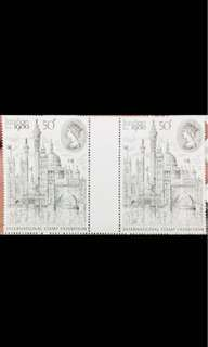 UK London 1980 stamp Exh pair MNH
