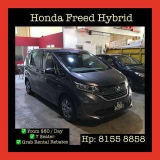 Honda Freed Hybrid - Grab Car Rentals, Uber welcomed