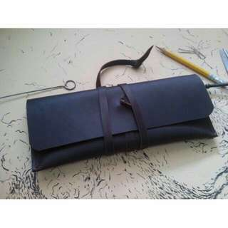 Customize Leather Pencil Pouch/Case *free name emboss