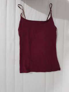 Burgundy tank top urban outfitters