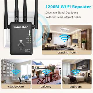 🚚 ⭐️ AC1200mbps 2.4G 5G network dual band Wavlink top quality WiFi Repeater