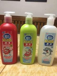 White Rain KIDS 3 in 1 Shampoo Conditioner Bodywash - Family Size