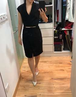 CLOSET LONDON black dress (with attachable small belt from REISS)