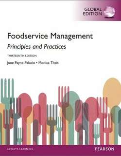 Foodservice Management Principles and Practices ebook
