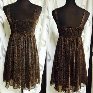 Black dress with gold glitters