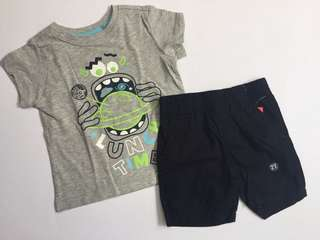 Short + shirt set for boys