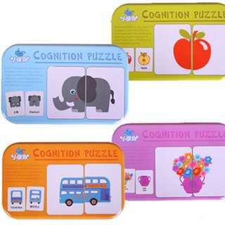 Early learning puzzle flash cards