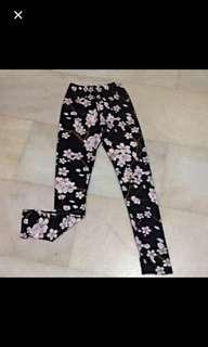 White/black 🌸Cherry Blossom Tights/leggings