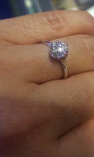 Diamond GIA engagement ring 18k白金鑽石戒指