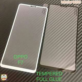 Tempered Glass Full Cover / Full Lem OPPO F7