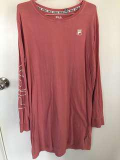 Fila x Factorie pink long sleeve shirt