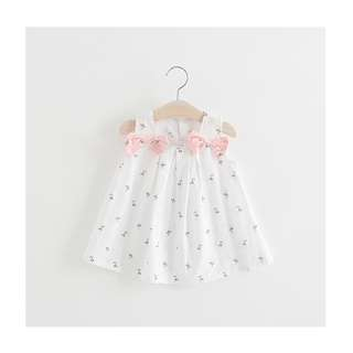 Mini Ribbon Dress - White