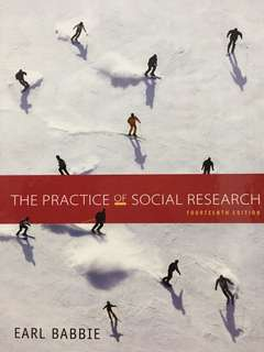 SC2101 The Practice of Social Research 14th Edition Earl Babbie