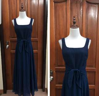 Long gown navy blue