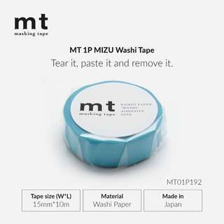 MT Solids MT01P192 Washi Tape - MIZU - 15mm x 10m