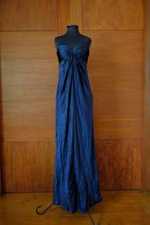 Deep Blue Satin Gown