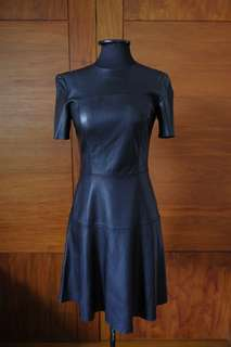 Zara Black Faux Leather Dress