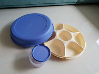 Tupperware snack tray