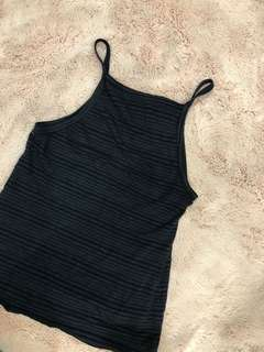 Glassons crop black singlet