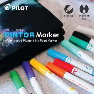 PILOT PINTOR Marker(Pigment Ink) -FINE- 1.0mm (24 color available) LIST 1/2