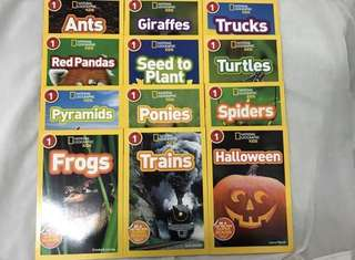 National Geographic for kids (Level 1) 12 books