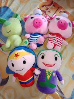 Assorted stuffed toys take all