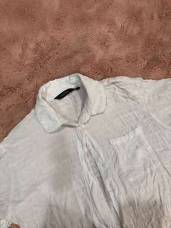 Glassons white collared shirt