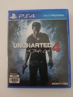 Unchartered 4 Used Ps4 game (like new)