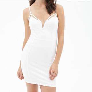 Forever 21 - White Web Cut Dress