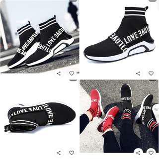 Upstyle fashion sock shoes black