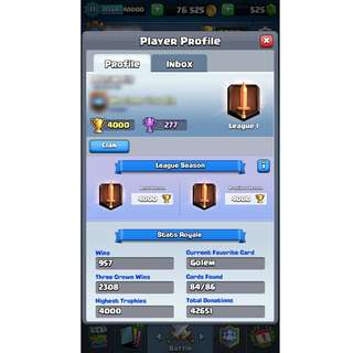 11LVL 4000 Cups Clash Royal
