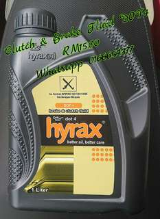 DOT4 Hyrax Brake & Clutch Fluid 1 Liter