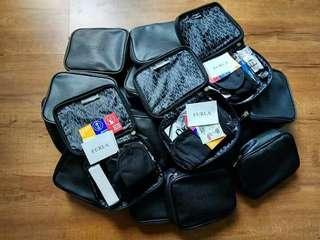 Furla pouch gift dari Turkis Airlines Biz Class ada 12 set aja