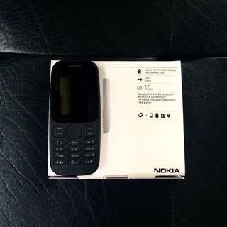 Brandnew Original Nokia 105 2017 Dual SIM - Classic Back Up Phone