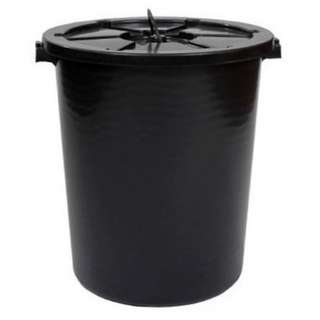 Dustbin 26 Gallon w Cover - Black