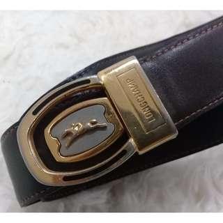 mens LONGCHAMP leather belt