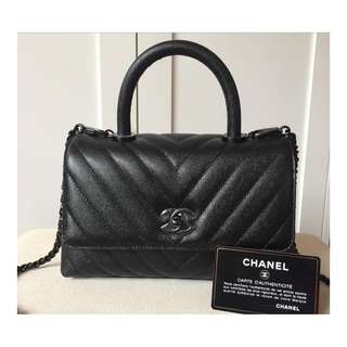 Authentic Chanel Coco Caviar ALL BLACK