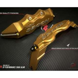 Nisin spoon brembo wilwood Aluminium Brake Caliper Cover Gold color 195mm small