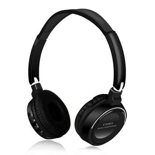 Bluetooth headphone - adjust music volume, bluetooth 4.2, 400 mAh, 20 m bluetooth range, built-in microphone, intelligent respond (Black) Or (Red) (CVAIA-A910)