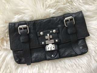Juicy Couture - Black Leather Clutch
