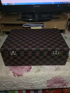 LV design 3 layer jewellery and amulet storage box